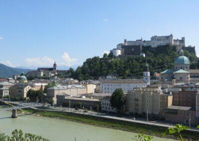 Sbg - Salzburg - Stadt mit Festung Hohensalzburg