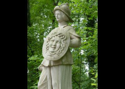 Sbg - Salzburg - Steinfigur im Schloss Hellbrunn 4