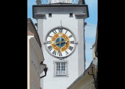 Sbg - Salzburg - Turmuhr vom alten Rathaus