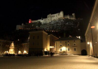 Sbg - Salzburg - Winternacht in der Stadt