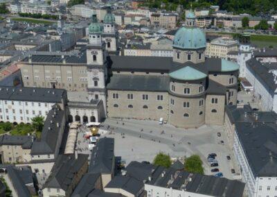Sbg - Salzburg - der Dom von oben gesehen