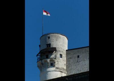 Sbg - Salzburg - ein Wehrturm der Festung Hohensalzburg 2