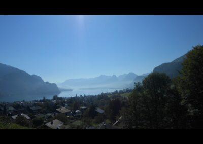 Sbg - Sankt Gilgen - Blick über Sankt Gilgen