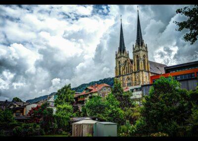 Sbg - St. Johann im Pongau - Blick aufdie St. Johannes Kirche