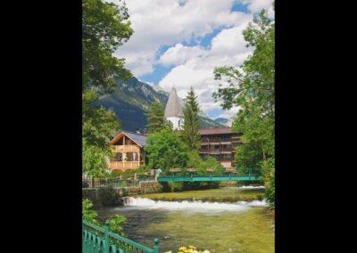 Stmk - Bad Aussee - Die Traun(Fluss)in der Alpenstadt
