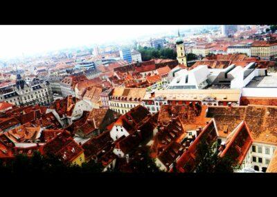 Stmk - Graz - Blick vom Uhrturm auf die Stadt