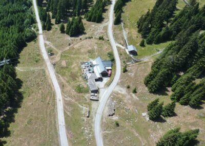 Stmk - Luftaufnahme von der Halterhütte am Schöckl
