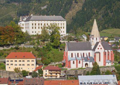 Stmk - Murau - Schloss und Stadtpfarrkirche