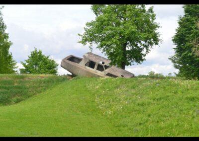Stmk - Premstätten - Betonboot im Österreichischen Skulpturenpark