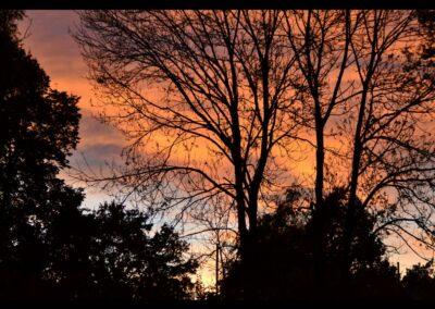 Stmk - Sonnenuntergang im Ennstal