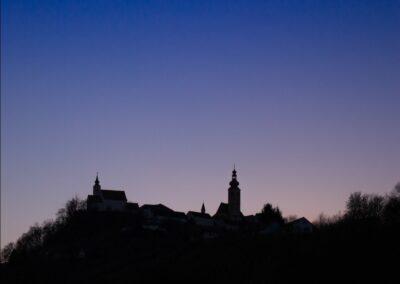 Stmk - Straden - Marktgemeinde Straden bei Nacht