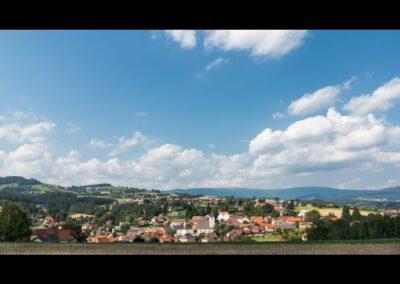 Stmk - Vorau - Blick auf die Marktgemeinde