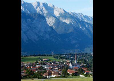 Tirol - Axams - Blick auf die Gemeinde