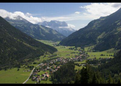 Tirol - Bichlbach - Luftaufnahme von der Gemeinde