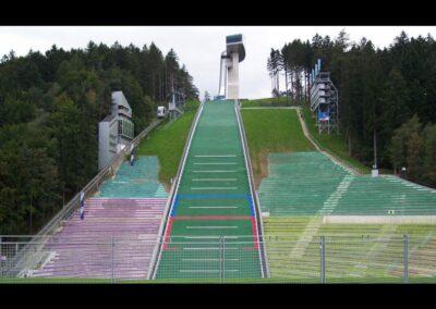 Tirol - Innsbruck - Skisprungschanzeauf dem Berg Isel