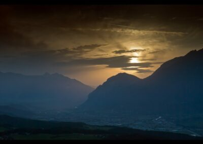 Tirol - Innsbruck - Sonnenuntergang über Innsbruck