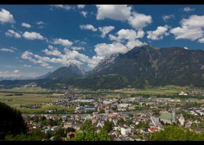 Tirol - Schwaz - Luftaufnahme der Bezirkshauptstadt