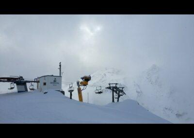 Tirol - Sesselift Seekogel im Skigebiet Sölden-Ötztal