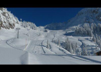 Tirol - Skipiste im schönverschneiten Ttannheimer Tal