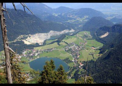 Tirol - Thiersee - Luftbild von Gemeinde und See