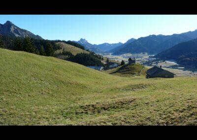 Tirol - Zöblen - Blick auf die kleine Gemeinde