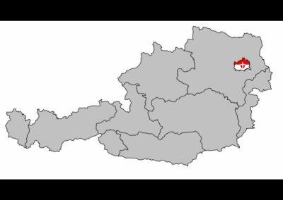 Bild zeigt: Wien - Auf der Österreichkarte