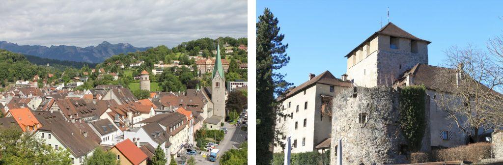 Bild zeigt: Feldkirch und Schattenburg Feldkirch
