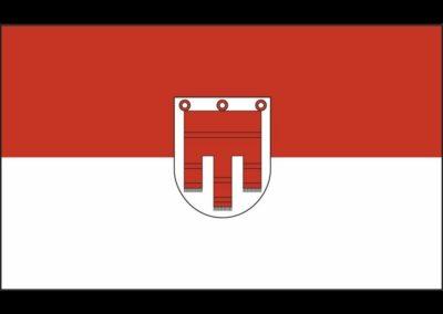 Bild zeigt: Vorarlberg Fahne mit wappen