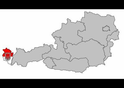 Bild zeigt: Vorarlberg auf der Österreichkarte