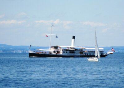 Bild zeigt: Bodensee Dampfschiff