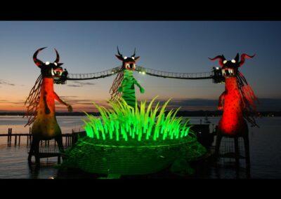 Bild zeigt: Bregenz - Bühnenbild der Seebühne