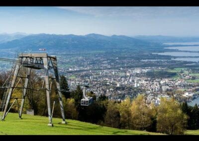 Bild zeigt: Bregenz - Luftaufnahme