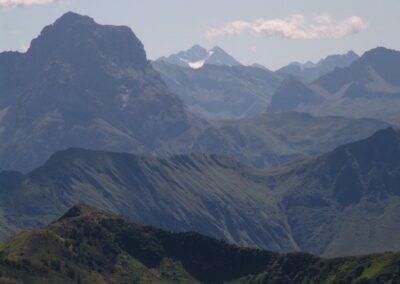 Bild zeigt: Der Diedamskopf - Hausberg von Schoppernau