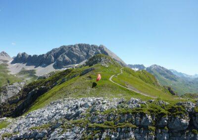 Bild zeigt: Prüfkopf in den Lechtaler Alpen