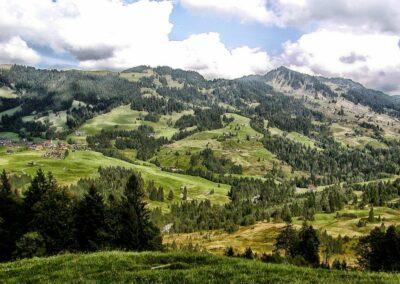 Bild zeigt: Sibratsgfäll - Landschaft rund um die Gemeinde