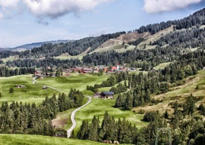 Bild zeigt: Sibratsgfäll - Tourismusgeprägte Gemeinde