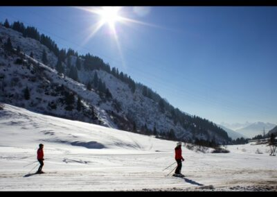 Bild zeigt: Skifahren in den Lechtaler Alpen