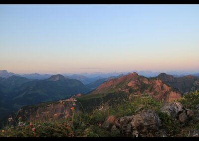 Bild zeigt: Sonnenaufgang über den Bregenzerwald