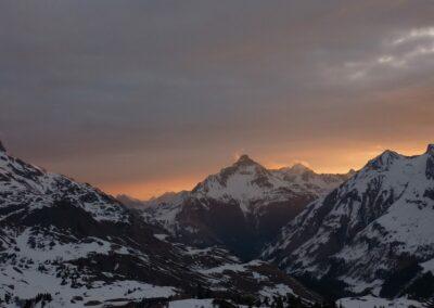 Bild zeigt: Sonnenaufgang in den Bergen Vorarlbergs
