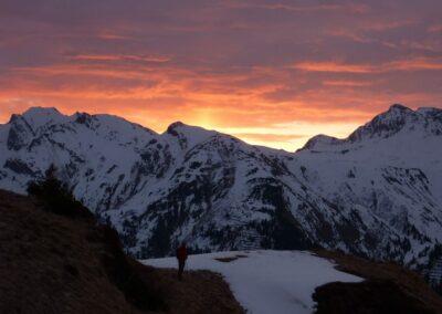 Bild zeigt: Sonnenaufgang in den Lechtaler Alpen
