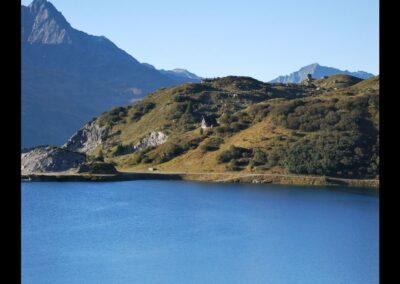 Bild zeigt: Spullersee im Lechquellengebirge