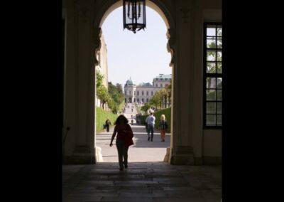 Bild zeigt: Wien - Durchgang zum oberen Belvedere