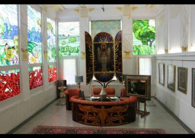 Bild zeigt: Wien - Ein Raum der Villa Ernst Fuchs