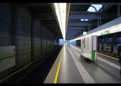 Bild zeigt: Wien - Eine Haltestelle der U-Bahnlinie U4