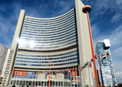 Bild zeigt: Wien - Einer der Bürotürme der Uno City