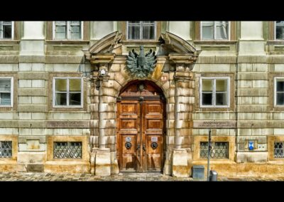 Bild zeigt: Wien - Eingangstor in ein Wiener Gebäude