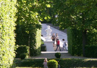 Bild zeigt: Wien - Garten des Schloss Belvederes
