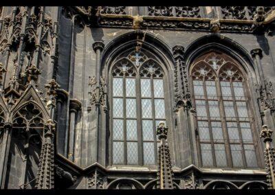 Bild zeigt: Wien - Kirchenfenster des Stephansdom