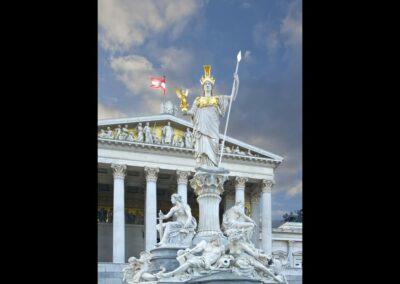 Bild zeigt: Wien - Pallas Athenebrunnen