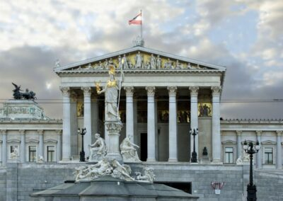 Bild zeigt: Wien - Parlamentsgebäude